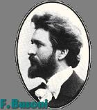 Busoni, Ferruccio Komponist Portrait Bild