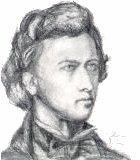 Chopin, Frederic Komponist Portrait Bild