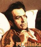 Glinka, Michail Komponist Portrait Bild