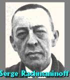 Rachmaninow, Serge Komponist Portrait Bild