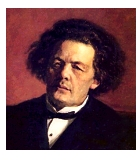 Rubinstein, Anton Grigorjewitsch Komponist Portrait Bild
